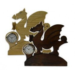 Welsh Carved Dragon Clock
