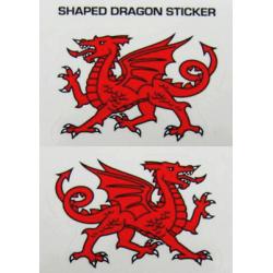 Twin Cutout Dragon Sticker