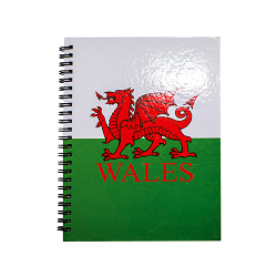A5 Wales Dragon Lined Notebook
