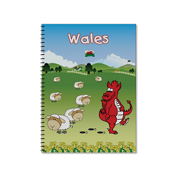 A5 Comic Wales Lined Notebook