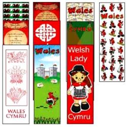 Wales Fun Card Bookmarks