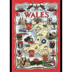 Wales Counties Tea Towel