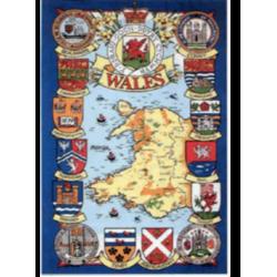 Heraldic Wales Tea Towel