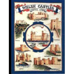 Castles of Wales Tea Towel
