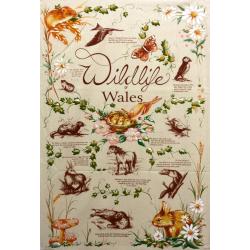 Wildlife of Wales Tea Towel