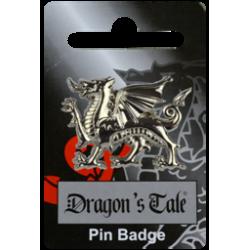 Silver Dragon Pin Badge