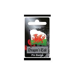 Wavy Wales Flag Pin Badge