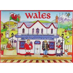 Wales Flat Comic Magnet