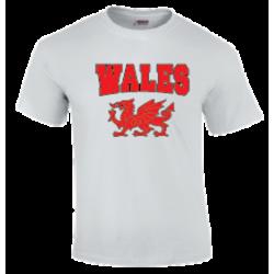 Mens Wales T-Shirt White