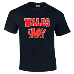 Mens Wales T-Shirt Black