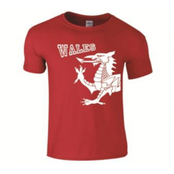 Adult Wales Dragon T-Shirt Red