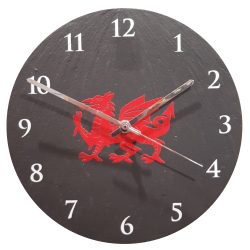 "9"" Welsh Slate Dragon Clock"