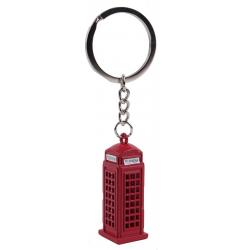 Telephone Box Metal Keyring