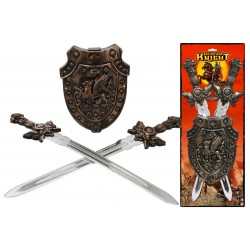 Twin Sword Set With Shield...