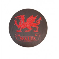 Welsh Slate Coaster Red Dragon