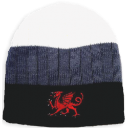 Welsh Dragon 3 Tone Beanie Hat