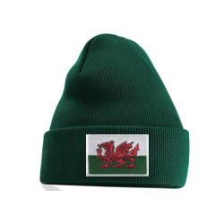 Welsh Flag Beanie Green