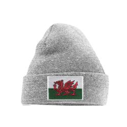 Welsh Flag Beanie Grey