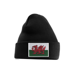 Welsh Flag Beanie Black