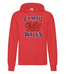 Wales / Cymru Adult Hoodie Red