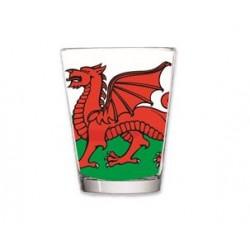 Welsh Flag Shot Glass