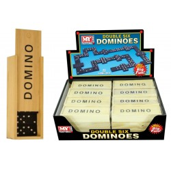 "6"" Dominoes In Wood Box"