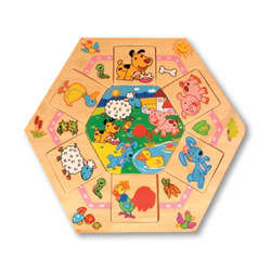 Wooden Farm Animal Puzzle Set